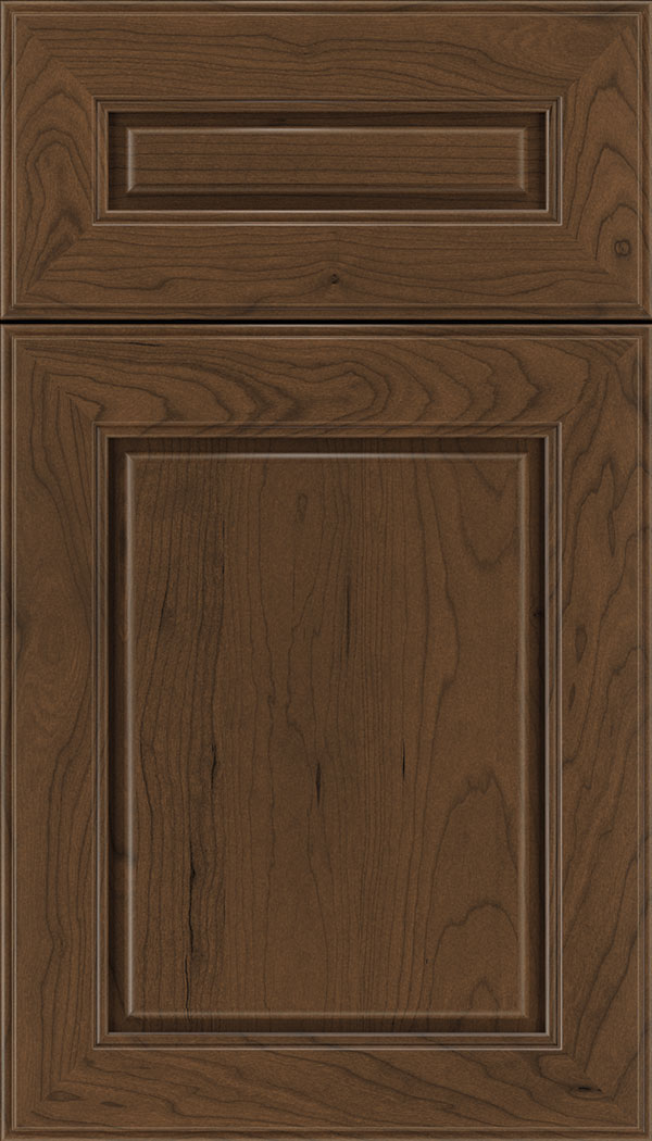 Hampton 5pc Cherry raised panel cabinet door in Sienna