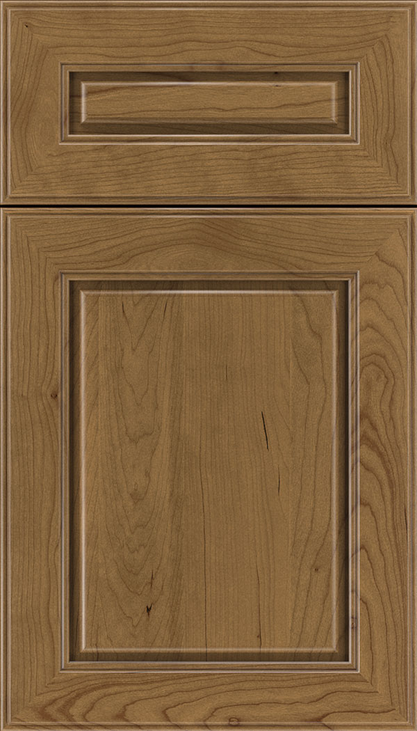 Hampton 5pc Cherry raised panel cabinet door in Tuscan