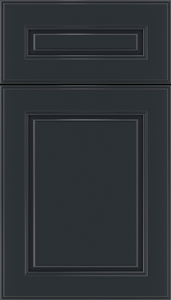 Hampton 5pc Maple raised panel cabinet door in Gunmetal Blue