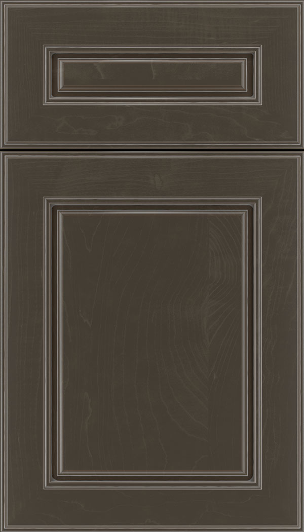 Hampton 5pc Maple raised panel cabinet door in Thunder with Pewter glaze