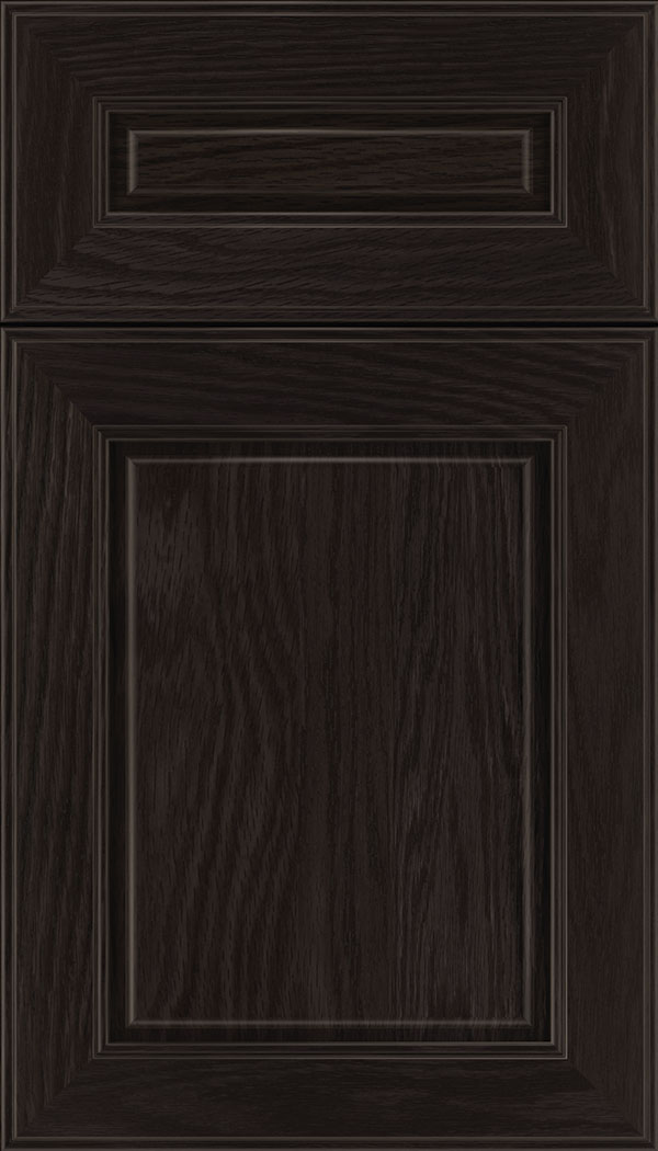 Hampton 5pc Oak raised panel cabinet door in Charcoal