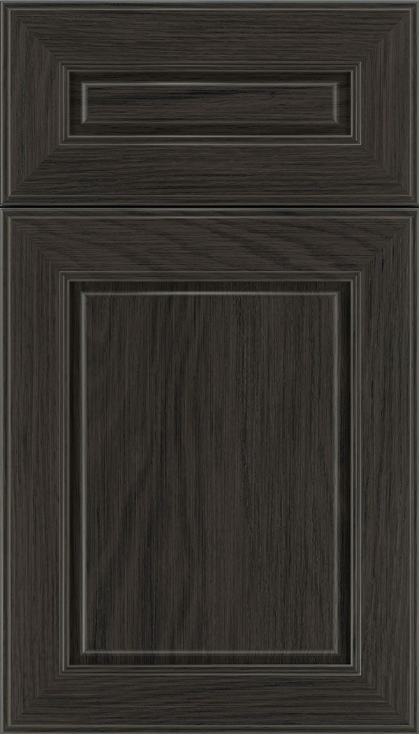 Hampton 5pc Oak raised panel cabinet door in Weathered Slate