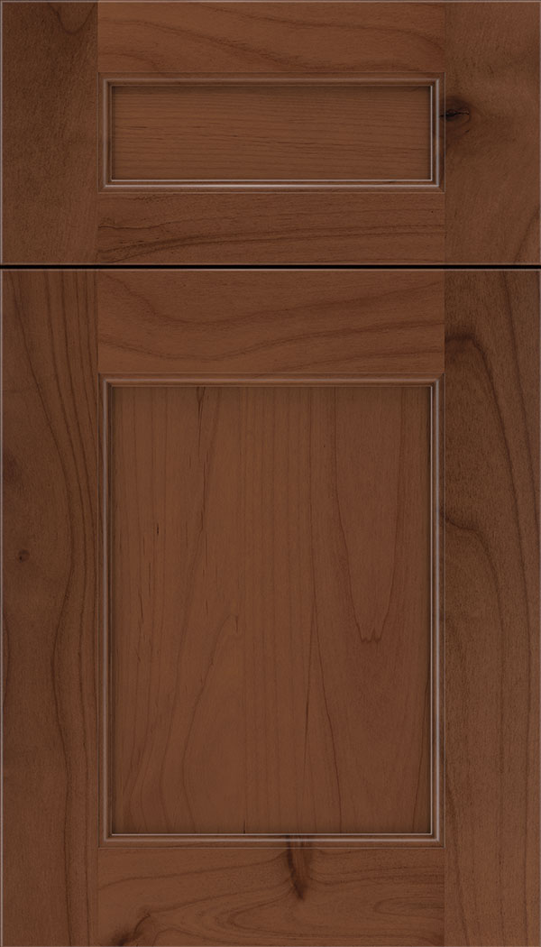 Lexington 5pc Alder recessed panel cabinet door in Russet