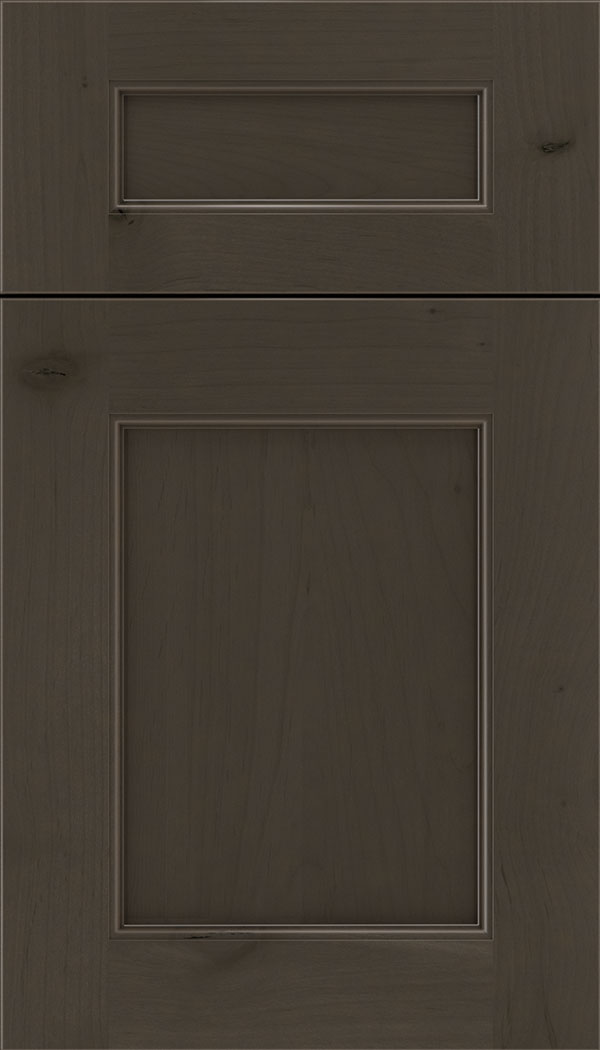 Lexington 5pc Alder recessed panel cabinet door in Thunder