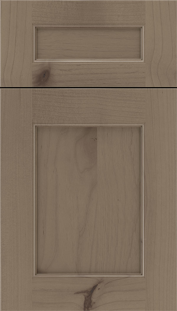 Lexington 5pc Alder recessed panel cabinet door in Winter