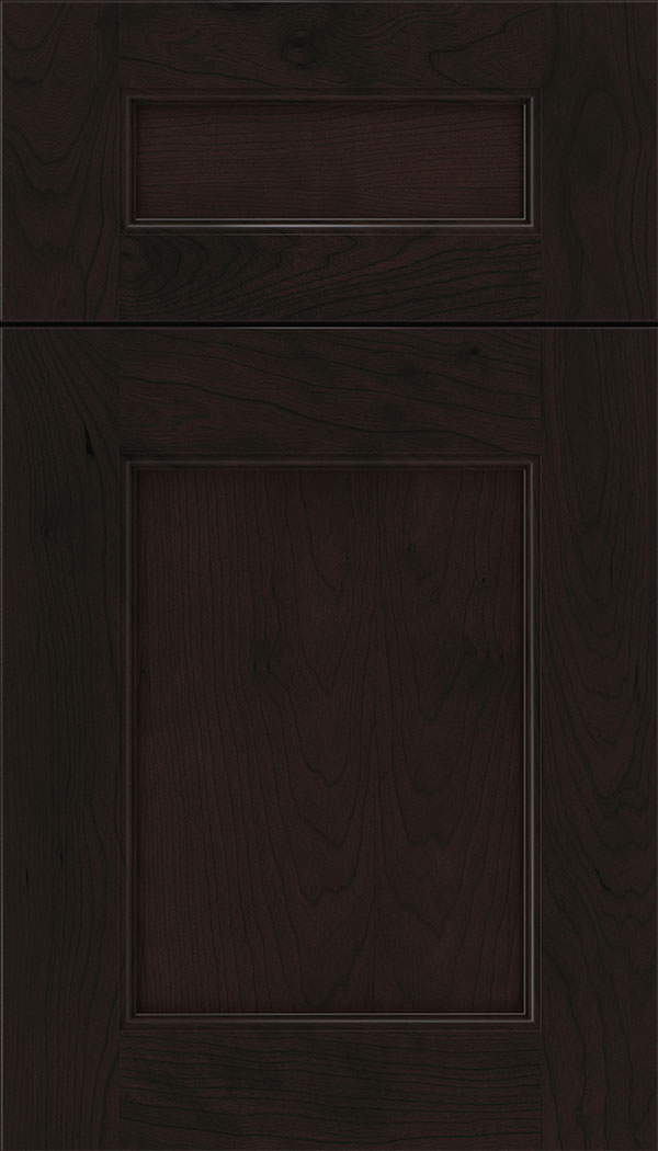 Lexington 5pc Cherry recessed panel cabinet door in Espresso