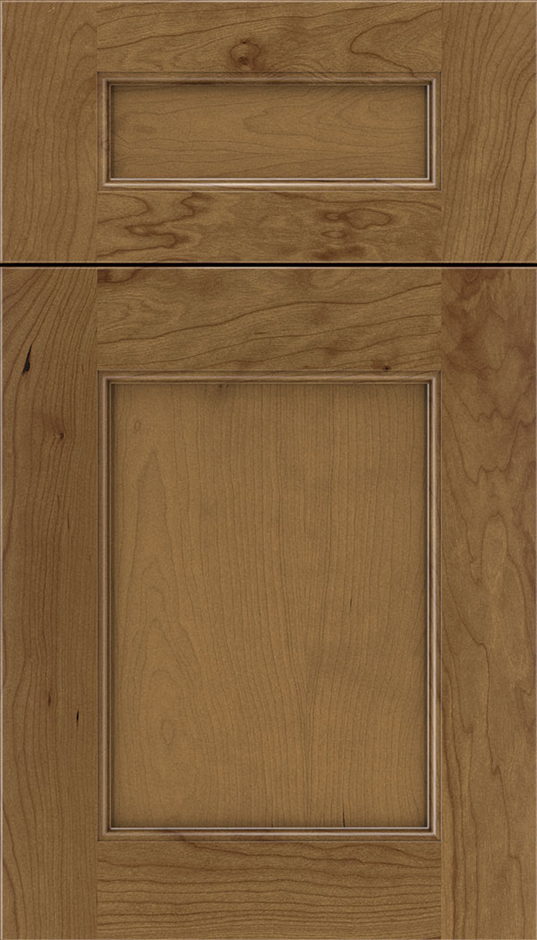 Lexington 5pc Cherry recessed panel cabinet door in Tuscan