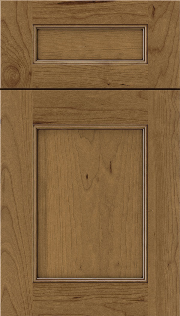 Lexington 5pc Cherry recessed panel cabinet door in Tuscan with Mocha glaze