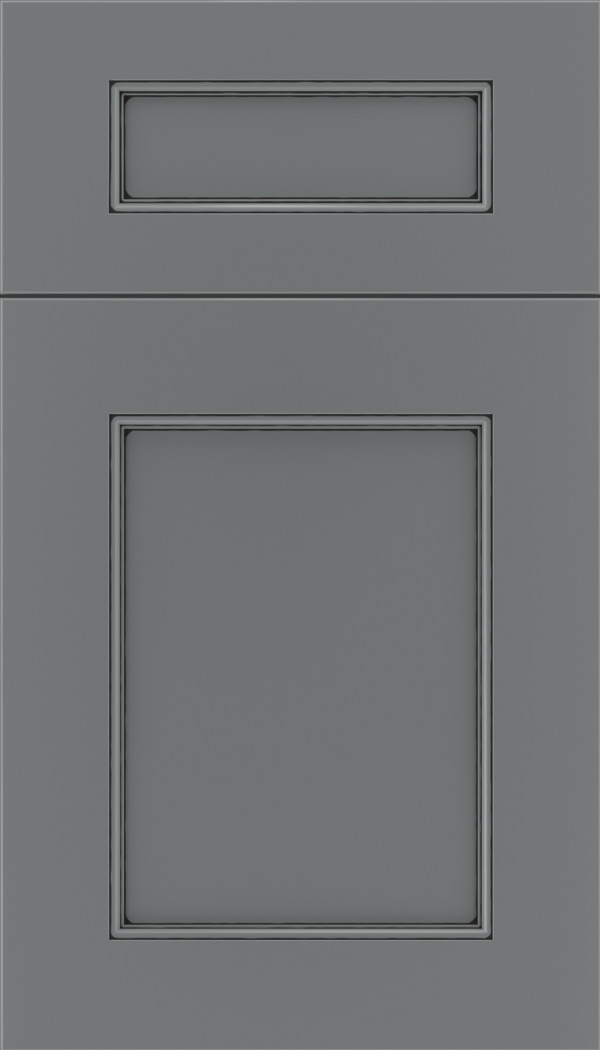 Lexington 5pc Maple recessed panel cabinet door in Cloudburst with Black glaze