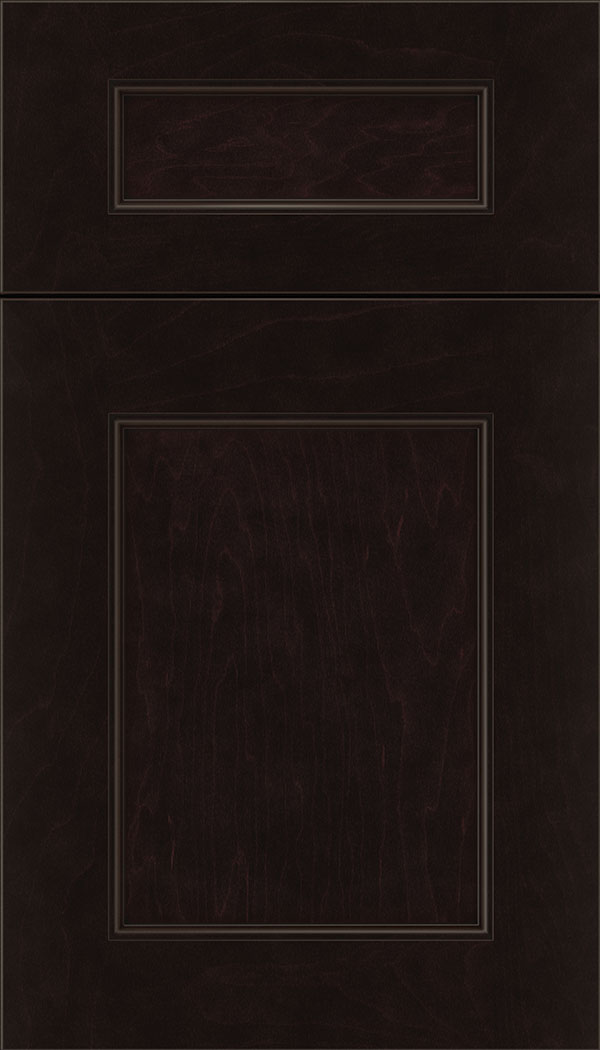 Lexington 5pc Maple recessed panel cabinet door in Espresso with Black glaze