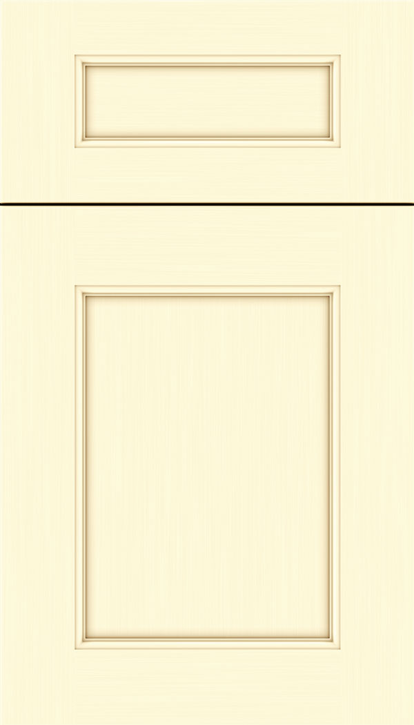 Lexington 5pc Maple recessed panel cabinet door in Palomino
