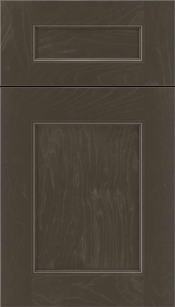 Lexington 5pc Maple recessed panel cabinet door in Thunder
