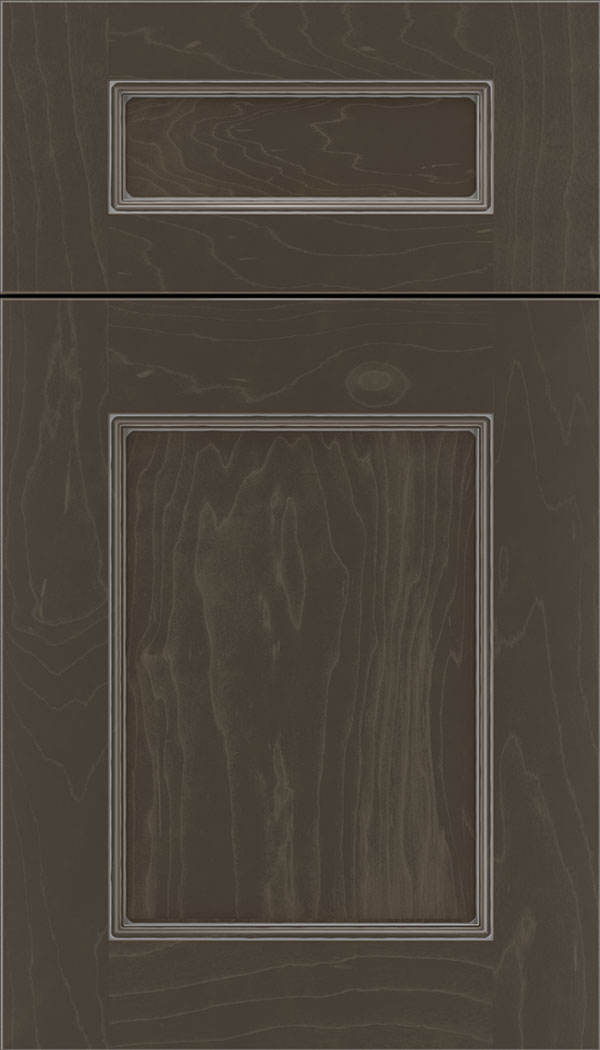 Lexington 5pc Maple recessed panel cabinet door in Thunder with Pewter glaze