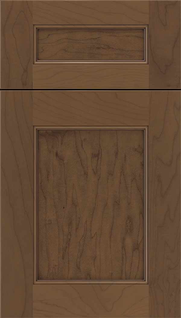 Lexington 5pc Maple recessed panel cabinet door in Toffee with Mocha glaze