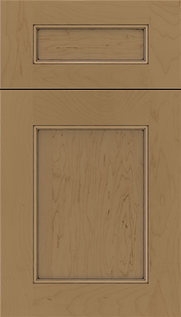 Lexington 5pc Maple recessed panel cabinet door in Tuscan with Mocha glaze