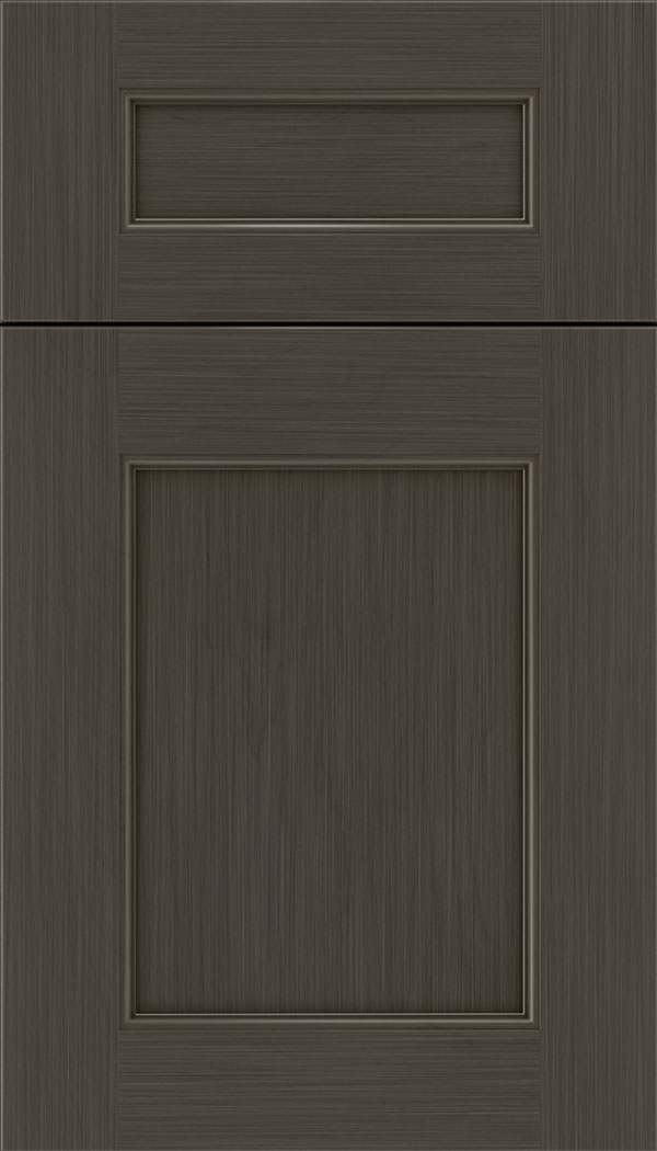 Lexington 5pc Maple recessed panel cabinet door in Weathered Slate