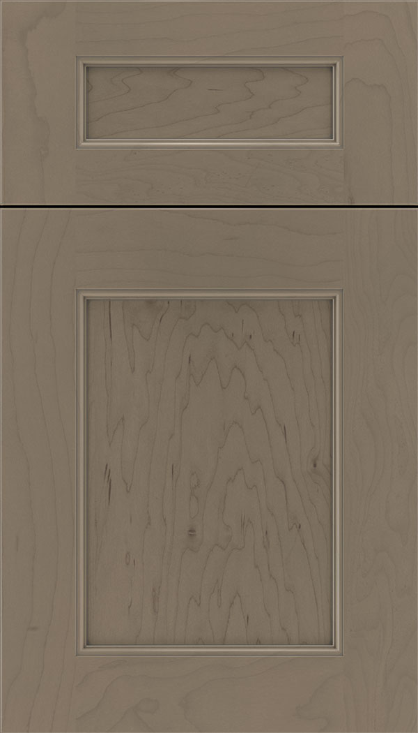 Lexington 5pc Maple recessed panel cabinet door in Winter with Pewter glaze