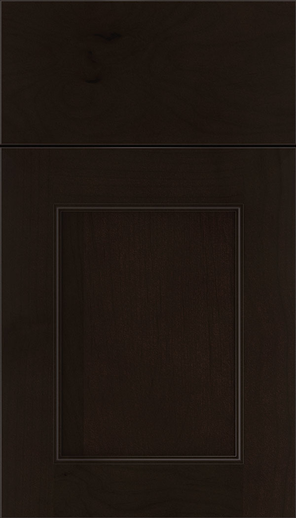 Lexington Alder recessed panel cabinet door in Espresso