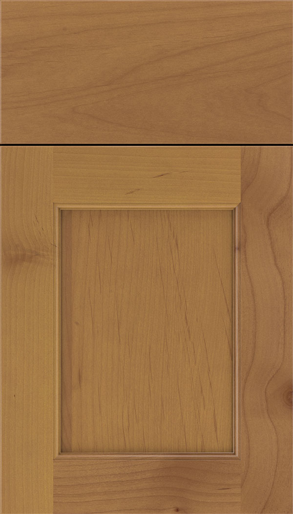 Lexington Alder recessed panel cabinet door in Ginger