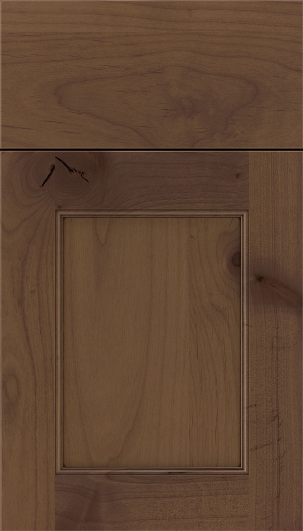 Lexington Alder recessed panel cabinet door in Sienna with Mocha glaze