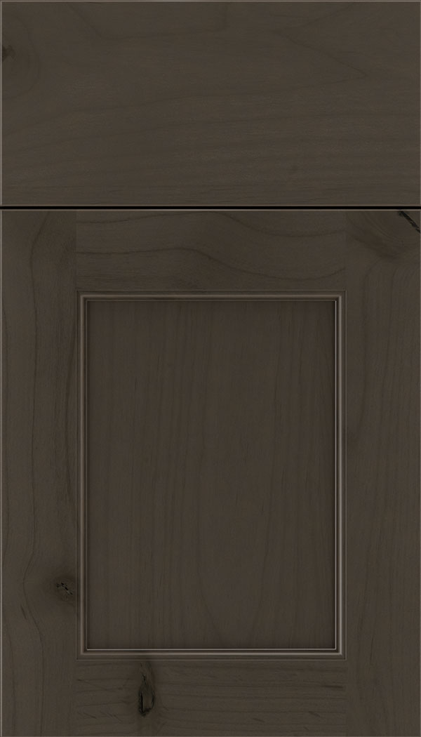 Lexington Alder recessed panel cabinet door in Thunder