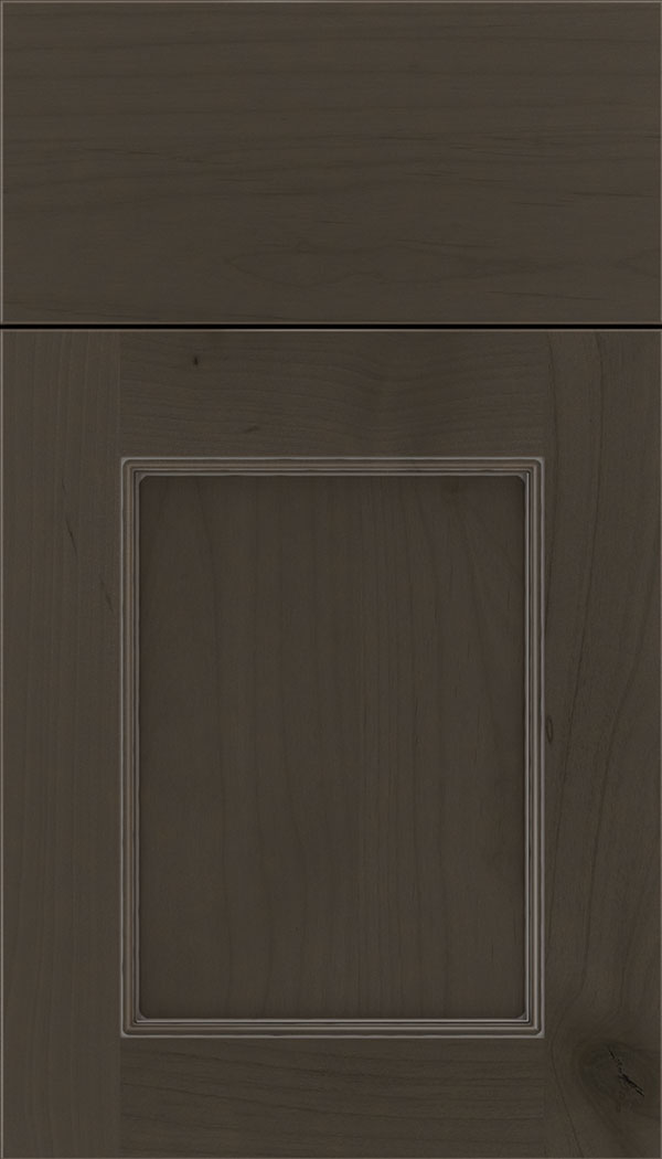Lexington Alder recessed panel cabinet door in Thunder with Pewter glaze