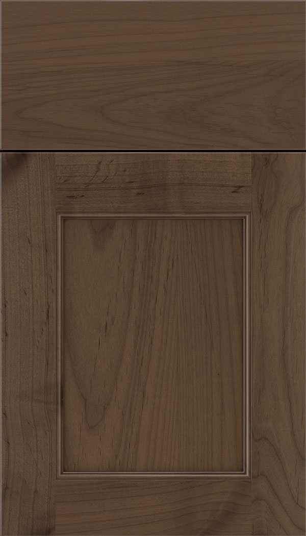 Lexington Alder recessed panel cabinet door in Toffee with Mocha glaze
