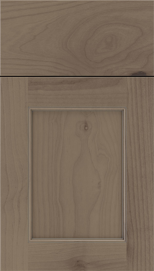 Lexington Alder recessed panel cabinet door in Winter with Pewter glaze