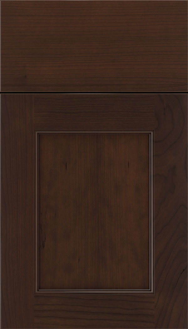 Lexington Cherry recessed panel cabinet door in Cappuccino