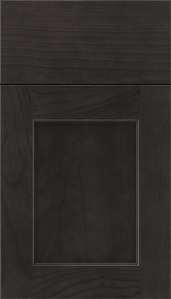 Lexington Cherry recessed panel cabinet door in Charcoal