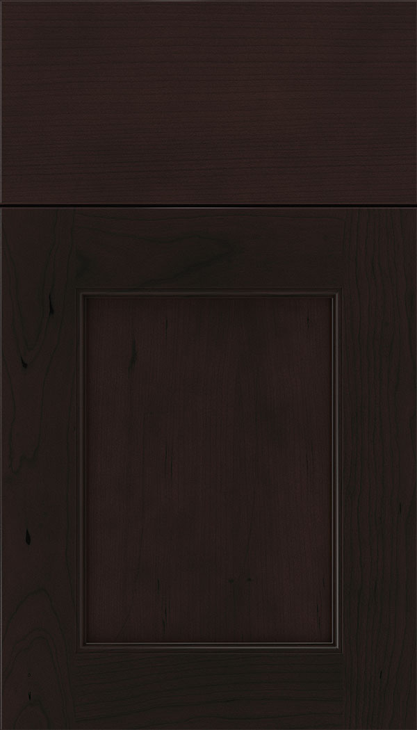 Lexington Cherry recessed panel cabinet door in Espresso