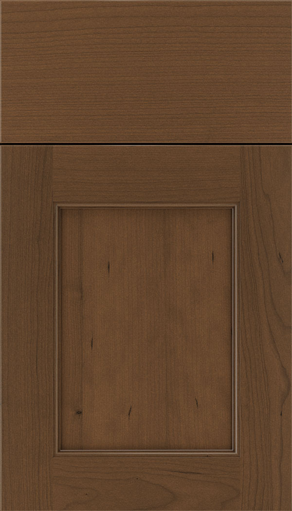Lexington Cherry recessed panel cabinet door in Sienna