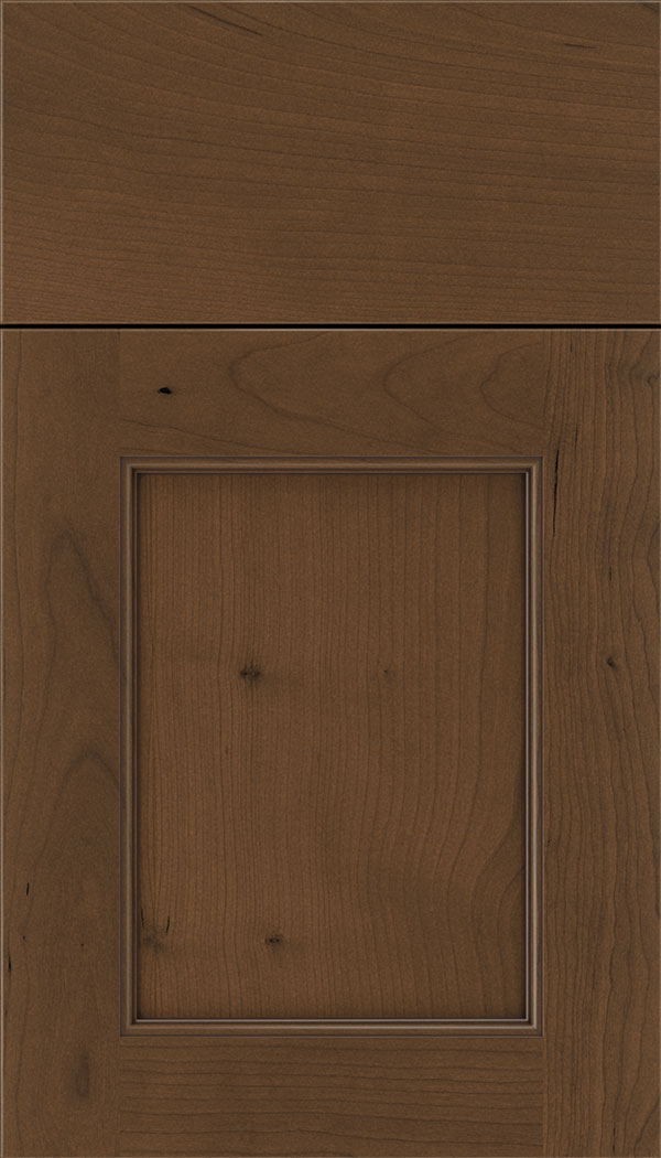 Lexington Cherry recessed panel cabinet door in Sienna with Mocha glaze