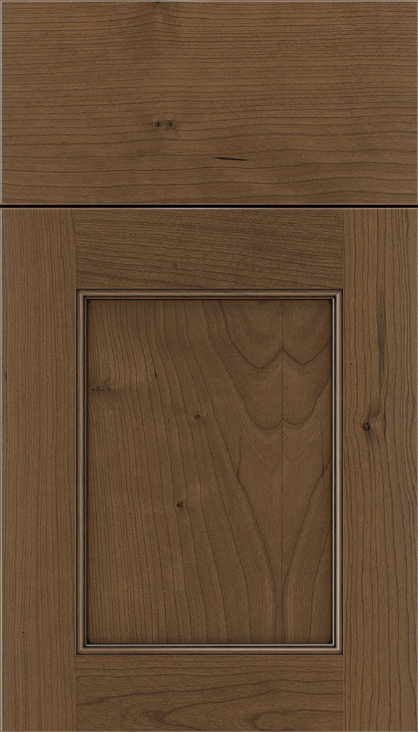 Lexington Cherry recessed panel cabinet door in Toffee with Mocha glaze