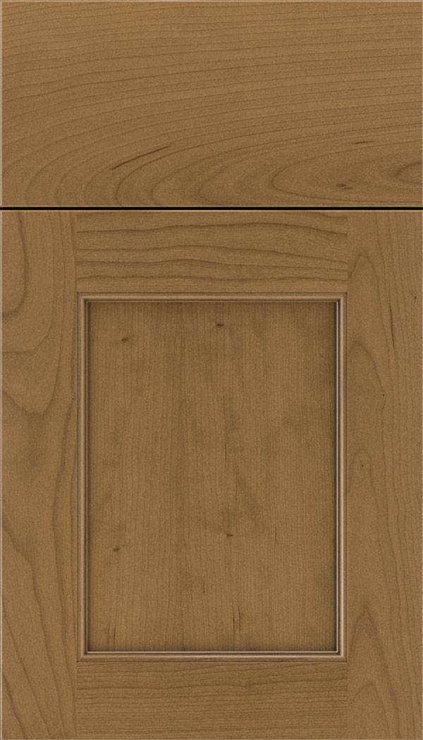 Lexington Cherry recessed panel cabinet door in Tuscan