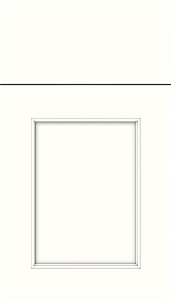Lexington Maple recessed panel cabinet door in Alabaster