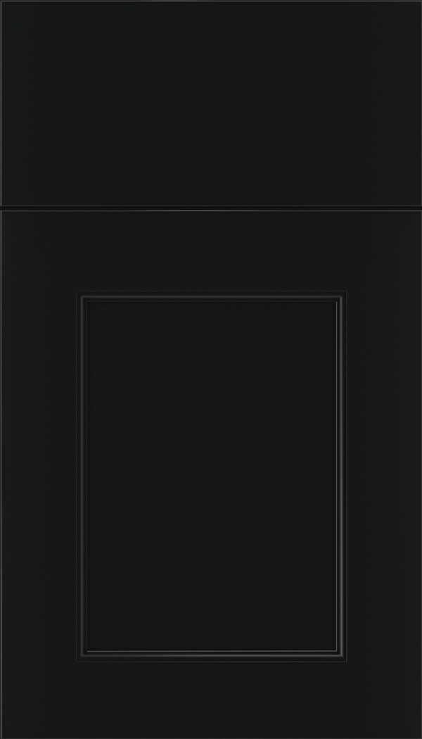 Lexington Maple recessed panel cabinet door in Black