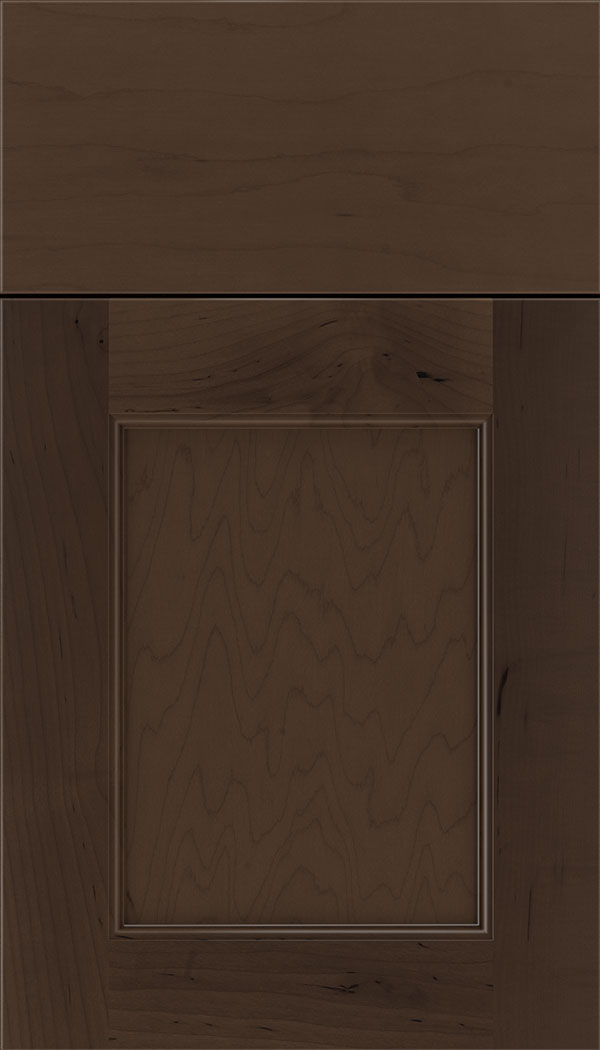 Lexington Maple recessed panel cabinet door in Cappuccino