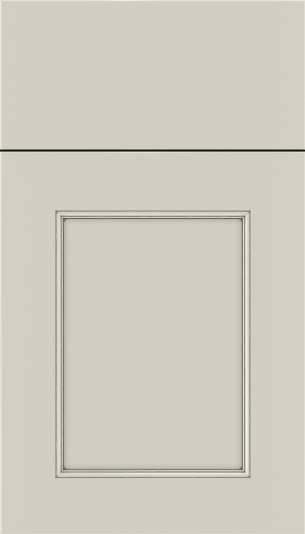 Lexington Maple recessed panel cabinet door in Cirrus with Pewter glaze