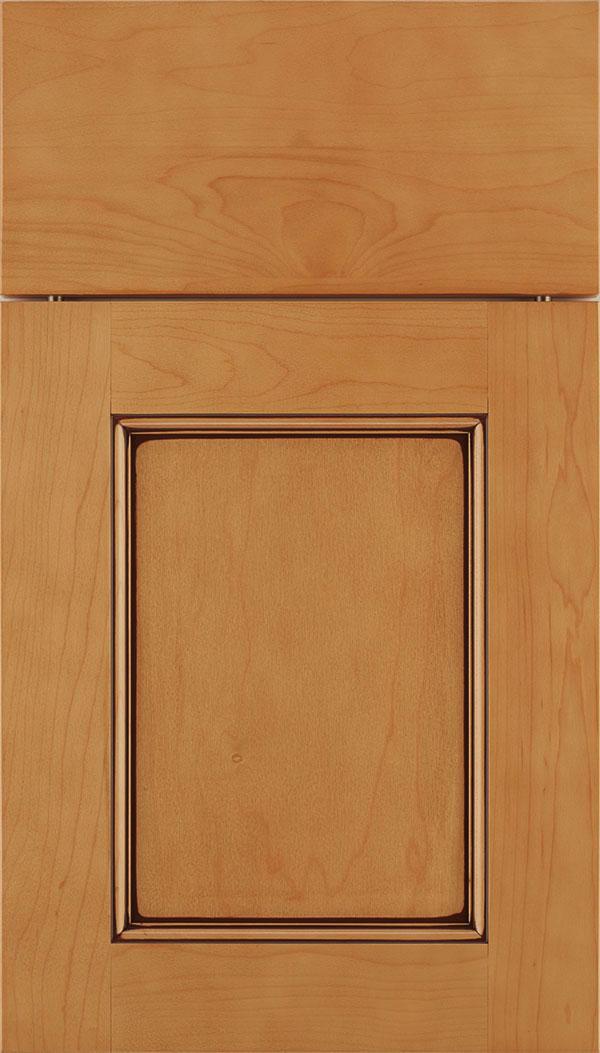 Superbe Lexington Maple Recessed Panel Cabinet Door In Ginger With Mocha Glaze Zoom
