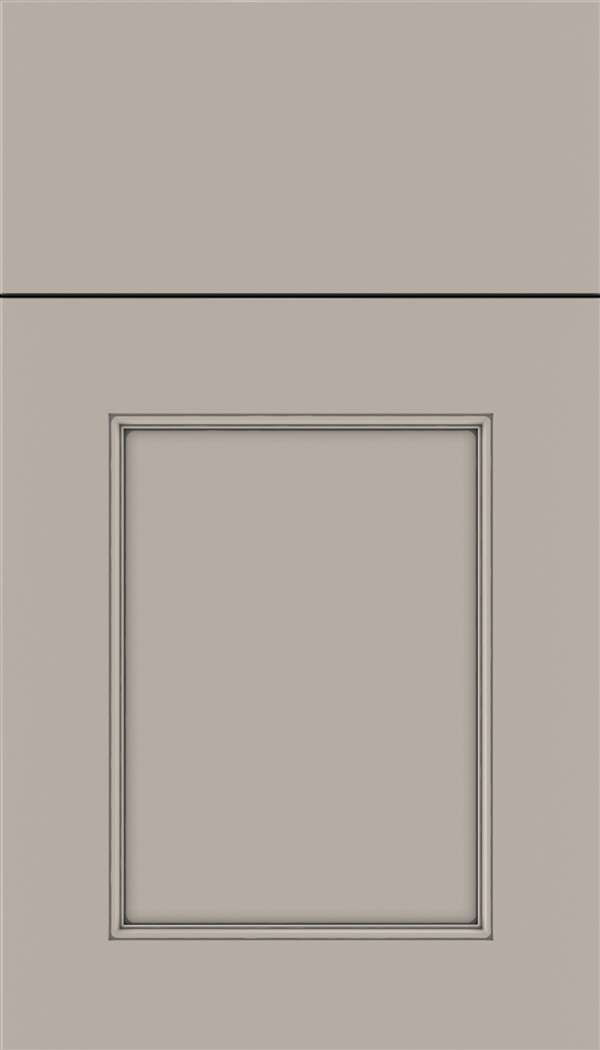 Lexington Maple recessed panel cabinet door in Nimbus with Pewter glaze