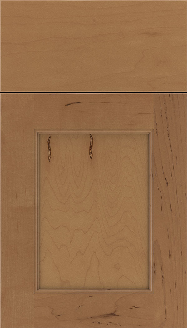 Lexington Maple recessed panel cabinet door in Nutmeg