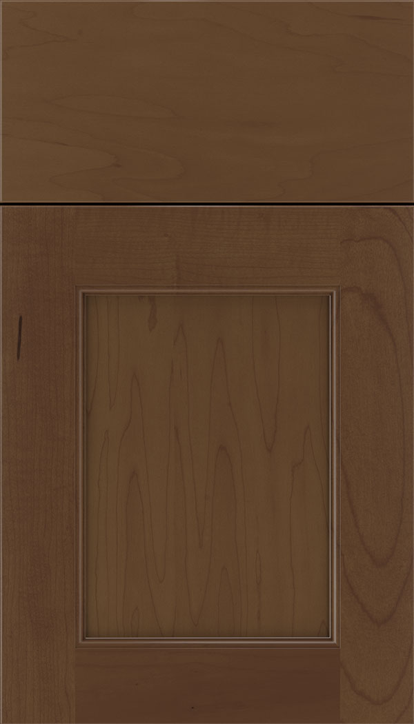 Lexington Maple recessed panel cabinet door in Sienna