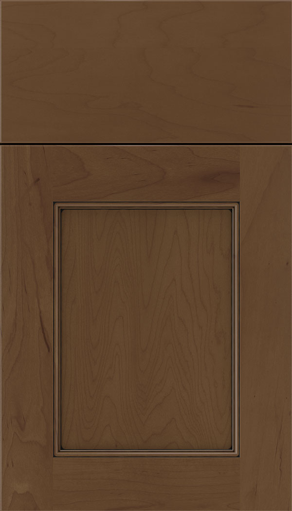 Lexington Maple recessed panel cabinet door in Sienna with Black glaze