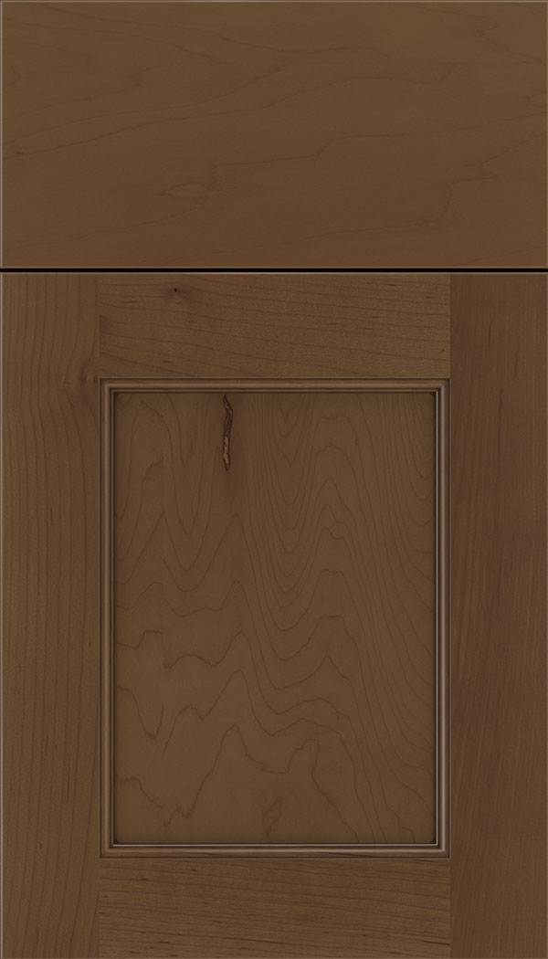Lexington Maple recessed panel cabinet door in Sienna with Mocha glaze