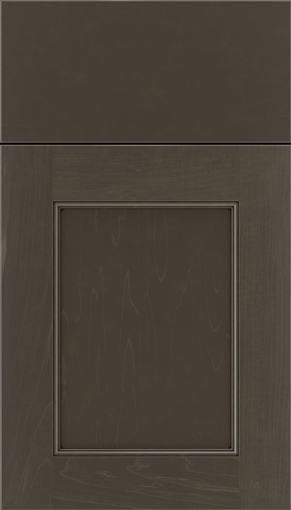 Lexington Maple recessed panel cabinet door in Thunder with Black glaze