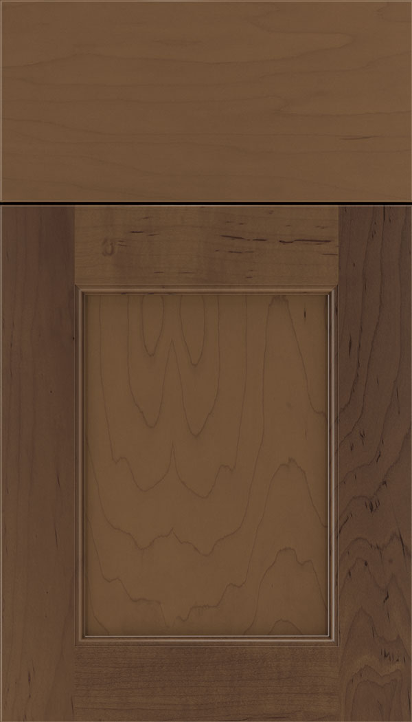 Lexington Maple recessed panel cabinet door in Toffee