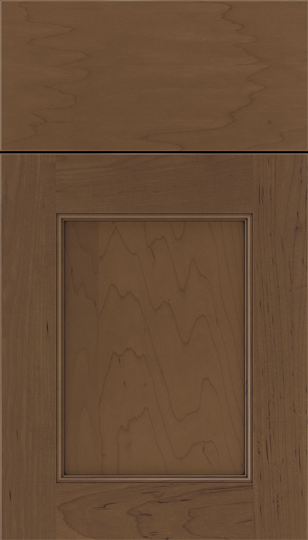 Lexington Maple recessed panel cabinet door in Toffee with Mocha glaze