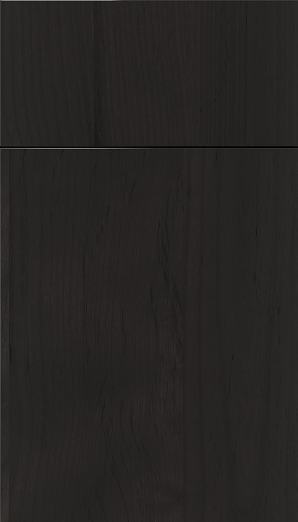 Lockhart Alder slab cabinet door in Charcoal