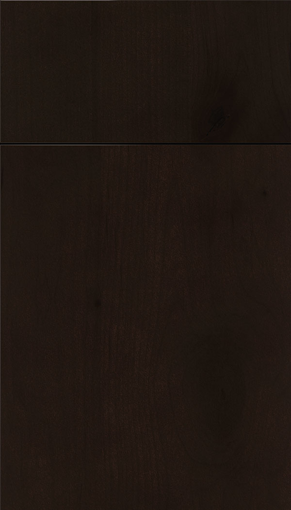 Lockhart Alder slab cabinet door in Espresso